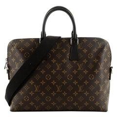 Louis Vuitton Porte-Documents Jour Bag Macassar Monogram Canvas