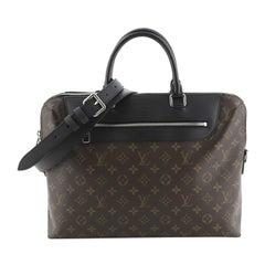 Louis Vuitton Porte-Documents Jour Bag NM Macassar Monogram Canvas
