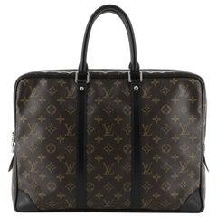 Louis Vuitton  Porte-Documents Voyage Bag Macassar Monogram Canvas