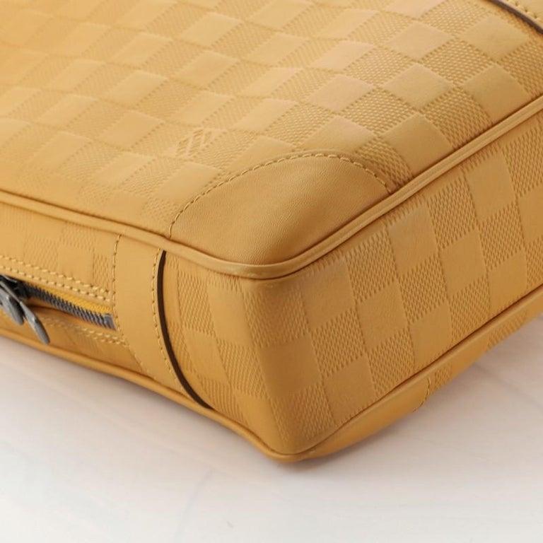 Louis Vuitton Porte-Documents Voyage Briefcase Damier Infini Leather For Sale 1