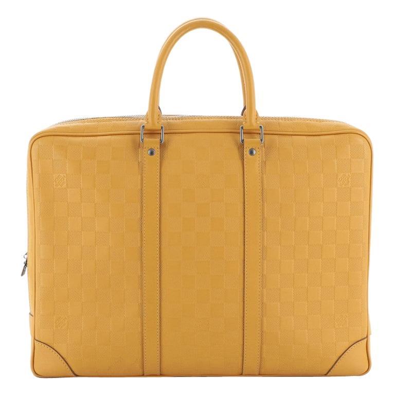 Louis Vuitton Porte-Documents Voyage Briefcase Damier Infini Leather For Sale