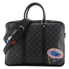 Louis Vuitton Porte-Documents Voyage Briefcase Limited Edition Damier Graphite
