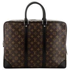 Louis Vuitton Porte-Documents Voyage Briefcase Macassar Monogram Canvas GM