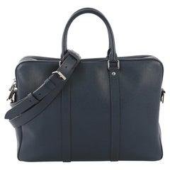 Louis Vuitton Porte-Documents Voyage Briefcase Taiga Leather PM