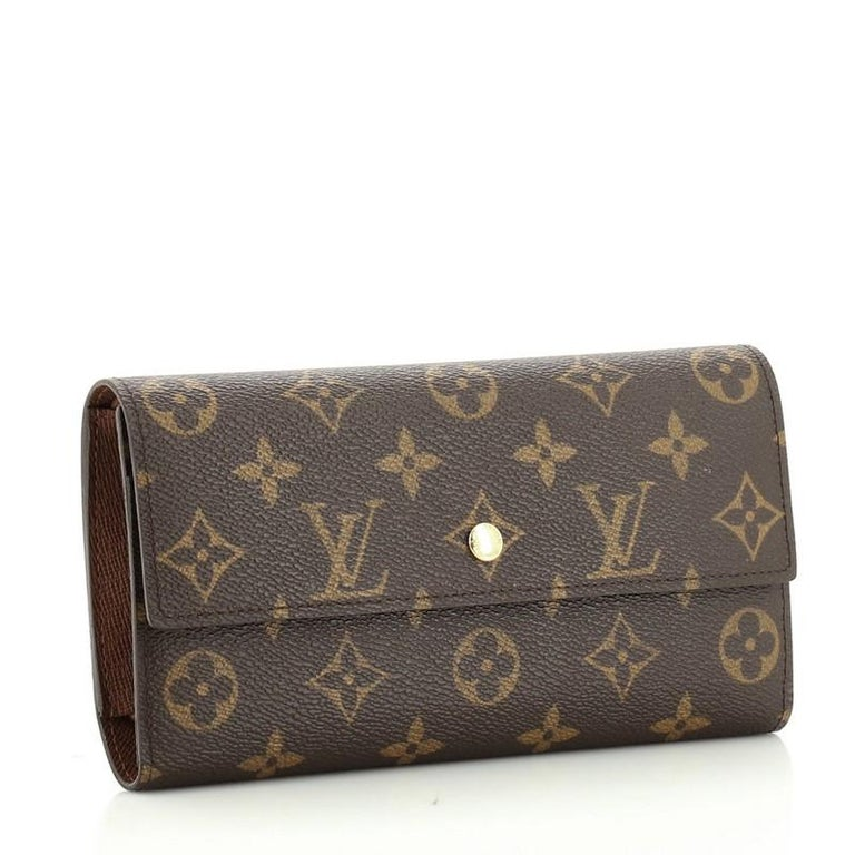 Louis Vuitton  Porte Tresor International Wallet Monogram Canvas In Good Condition In New York, NY
