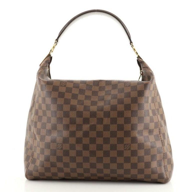 Gray Louis Vuitton Portobello Handbag Damier GM For Sale