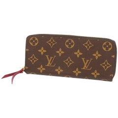 LOUIS VUITTON portofeuilles Clemence Womens long wallet M60742 Fuschia