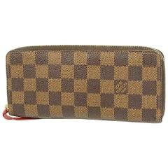 LOUIS VUITTON portofeuilles Clemence Womens long wallet N60534 cerise