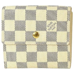 LOUIS VUITTON portofeuilles Elise Womens long wallet N61733 white