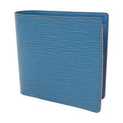LOUIS VUITTON portofeuilles MarcoNM unisex Folded wallet blue
