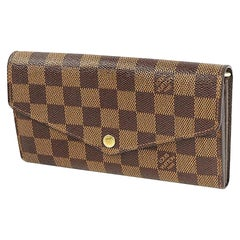 LOUIS VUITTON portofeuilles Sarah new model Womens long wallet N63209 brown