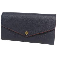 LOUIS VUITTON portofeuilles Sarah Womens long wallet M62125 Marine Rouge
