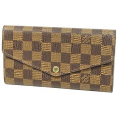 LOUIS VUITTON portofeuilles Sarah Womens long wallet N63209 Damier ebene