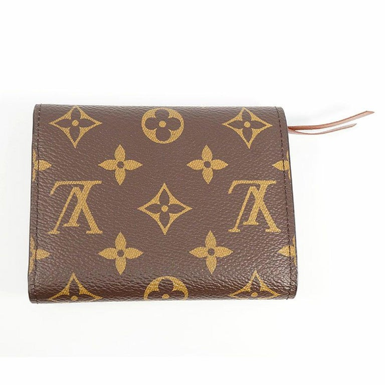 Louis Vuitton Portofeuilles Victorine Initial Printed M Womens Tri Fold Wallet M For Sale At 1stdibs