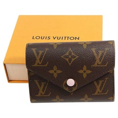 LOUIS VUITTON portofeuilles Victorine Womens Tri-fold wallet M62360 Rose balleri