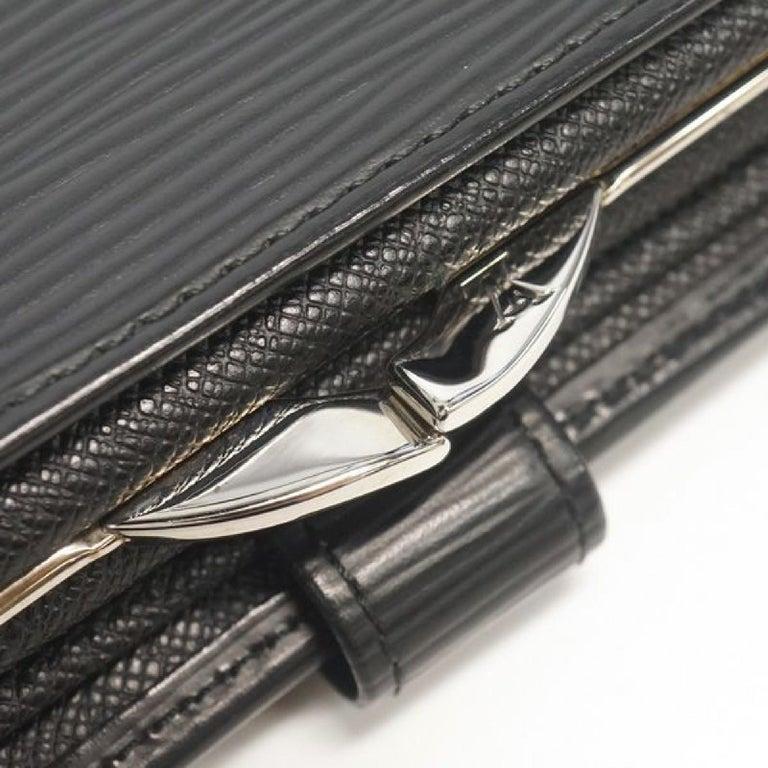 LOUIS VUITTON Portumone billets viennois Womens Folded wallet M63242 noir For Sale 2