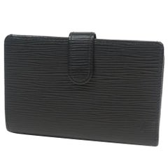 LOUIS VUITTON Portumone billets viennois Womens Folded wallet M63242 noir