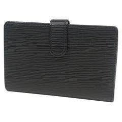 LOUIS VUITTON Portumone billets viennois Womens Folded wallet M63242 noir
