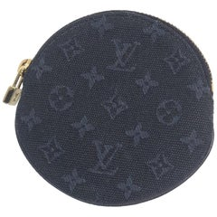 LOUIS VUITTON Portumone Longue unisex coin case M92450 Navy