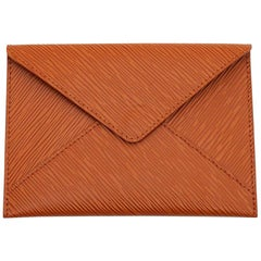 Louis Vuitton Pouch In Brown Epi Leather