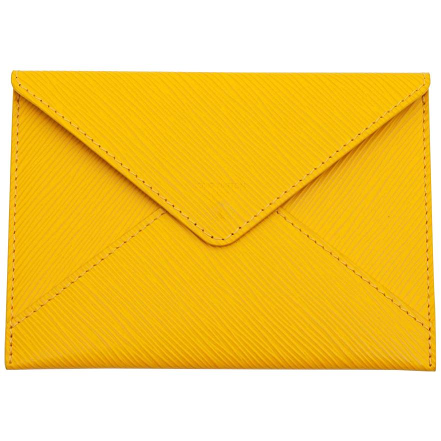 LOUIS VUITTON Pouch In Yellow Epi Leather
