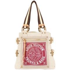 Louis Vuitton Printed Canvas Travel Tote Shopping Shoulder Bag