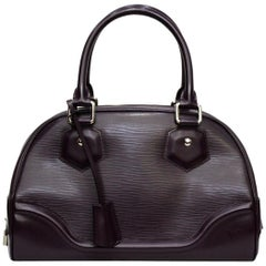 LOUIS VUITTON Purple Epi Leather Bowling Montaigne PM Bag