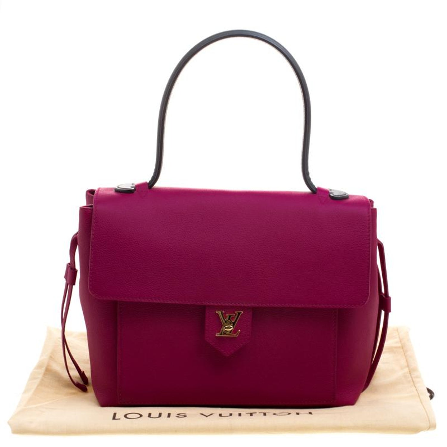 3641115a745a Louis Vuitton Purple Leather Lockme PM Bag For Sale at 1stdibs
