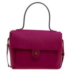 Louis Vuitton Purple Leather Lockme PM Bag