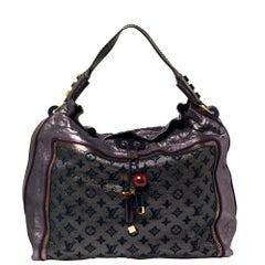 Louis Vuitton Purple Monogram Lurex Limited Edition Bluebird Bag