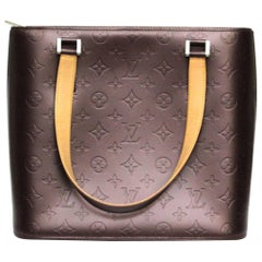 Louis Vuitton Purple Monogram Mat Leather Houston Bag