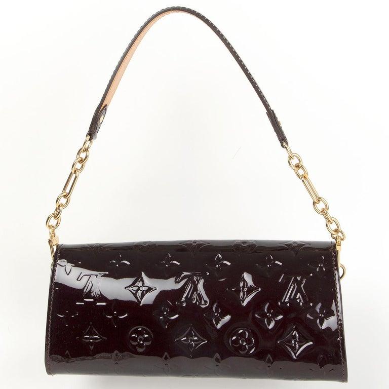 Black LOUIS VUITTON purple Monogram Vernis SUNSET BLVD Amarante Shoulder Bag For Sale