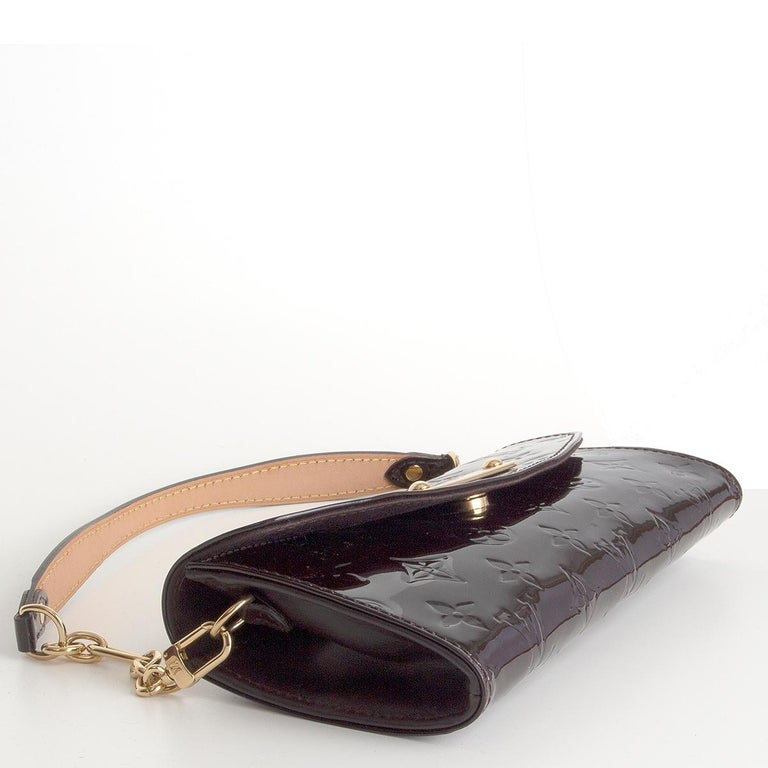 LOUIS VUITTON purple Monogram Vernis SUNSET BLVD Amarante Shoulder Bag In Good Condition For Sale In Zürich, CH