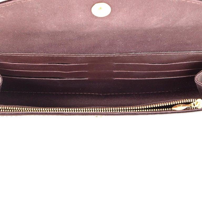 Women's LOUIS VUITTON purple Monogram Vernis SUNSET BLVD Amarante Shoulder Bag For Sale