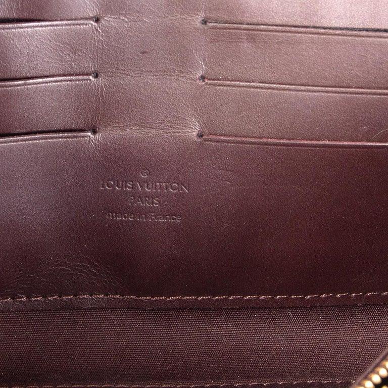LOUIS VUITTON purple Monogram Vernis SUNSET BLVD Amarante Shoulder Bag For Sale 1