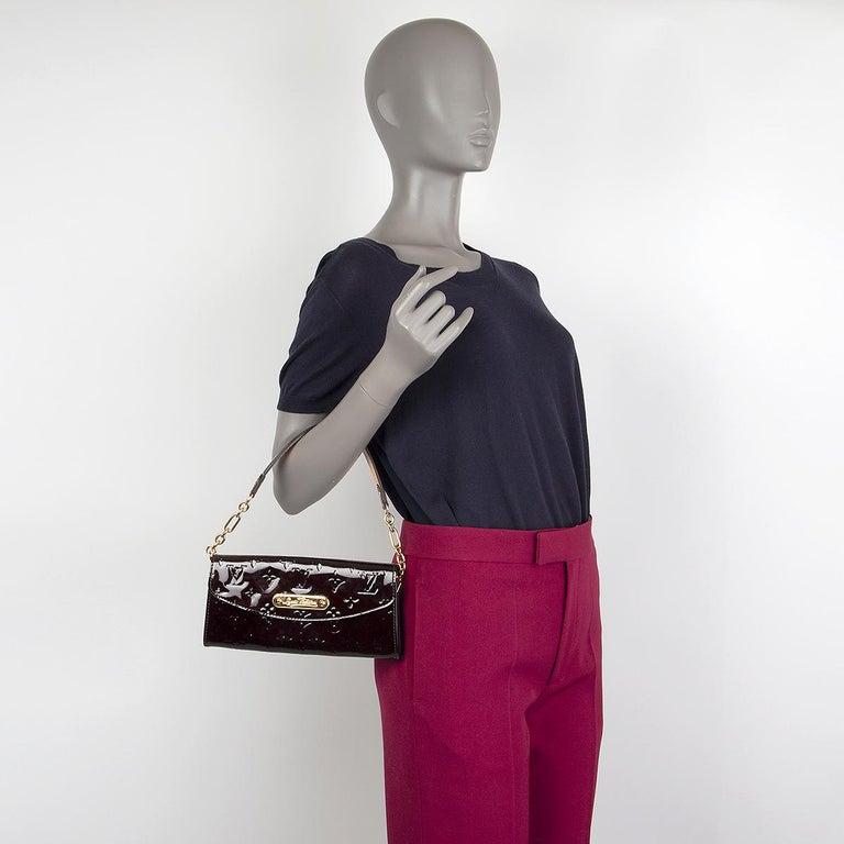 LOUIS VUITTON purple Monogram Vernis SUNSET BLVD Amarante Shoulder Bag For Sale 2