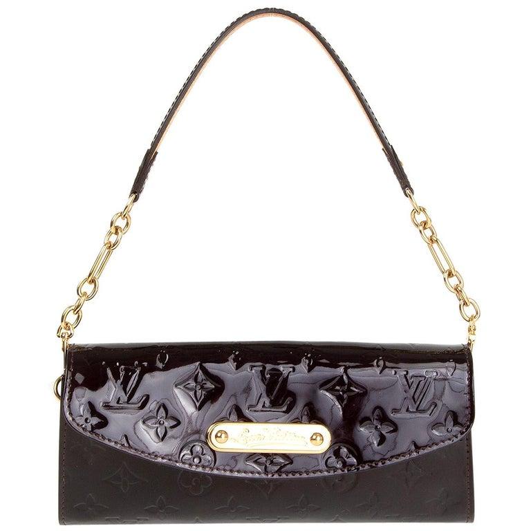 LOUIS VUITTON purple Monogram Vernis SUNSET BLVD Amarante Shoulder Bag For Sale