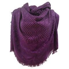 Louis Vuitton purple monograshawl
