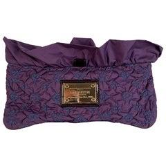 Louis Vuitton Purple Quilted Pochette Devi MM Clutch Bag