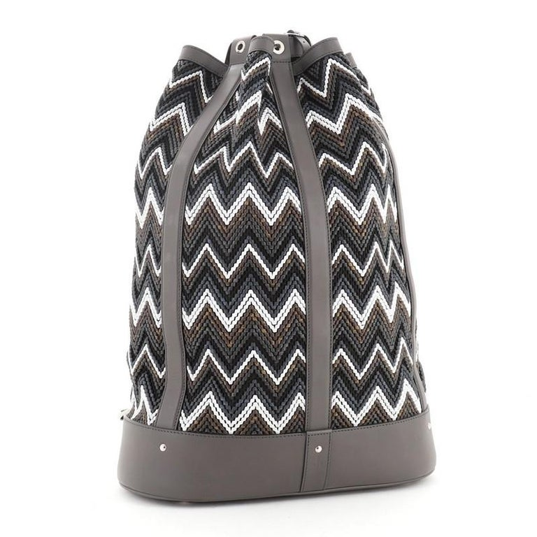 Gray Louis Vuitton Randonnee Backpack Chevron Canvas GM For Sale