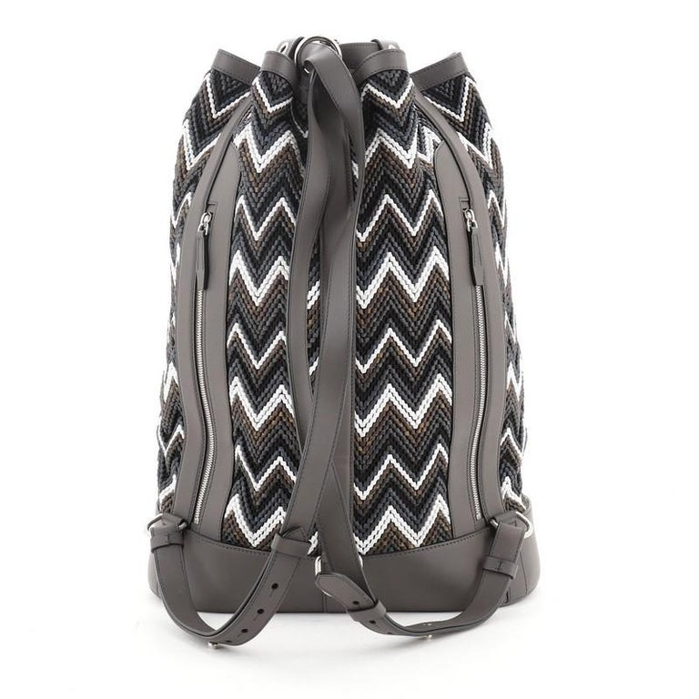 Louis Vuitton Randonnee Backpack Chevron Canvas GM In Good Condition For Sale In New York, NY