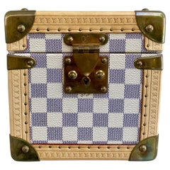 Louis Vuitton Rare Azur Limited Edition Jewelry Trunk Case GM