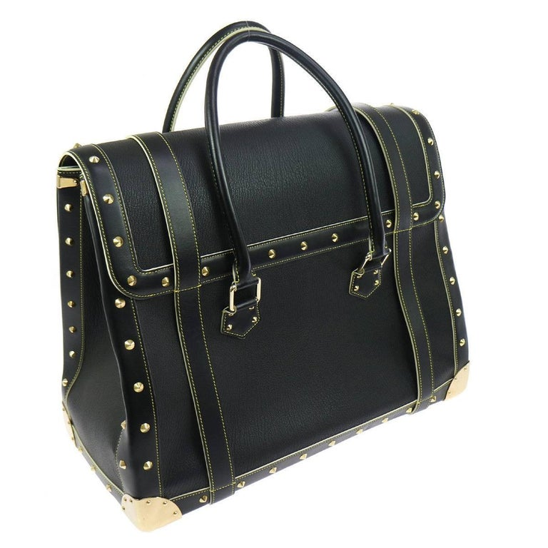 Louis Vuitton Rare Limited Edition Black Top Handle Carryall Travel Tote Bag For Sale 2