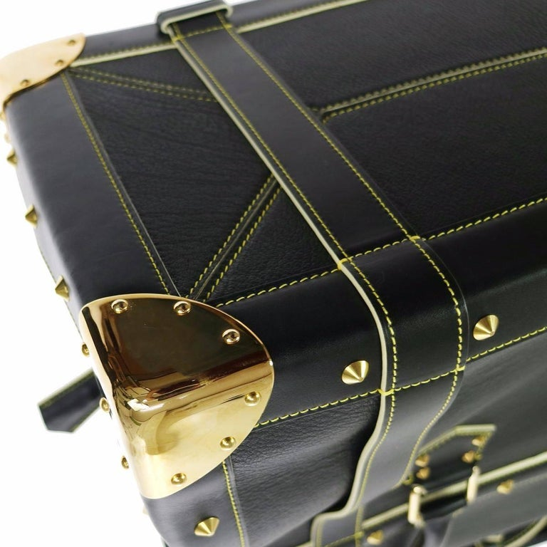 Louis Vuitton Rare Limited Edition Black Top Handle Carryall Travel Tote Bag For Sale 4