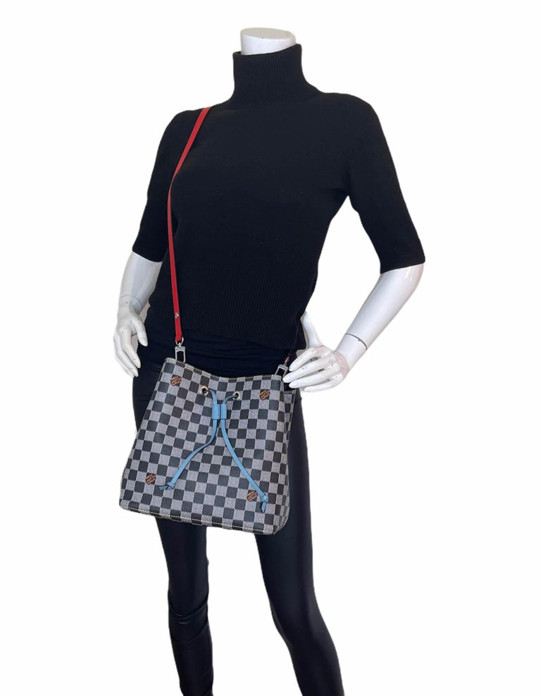 Louis Vuitton RARE Limited Edition Black & White Damier Canvas NeoNoe Bag In Excellent Condition For Sale In New York, NY