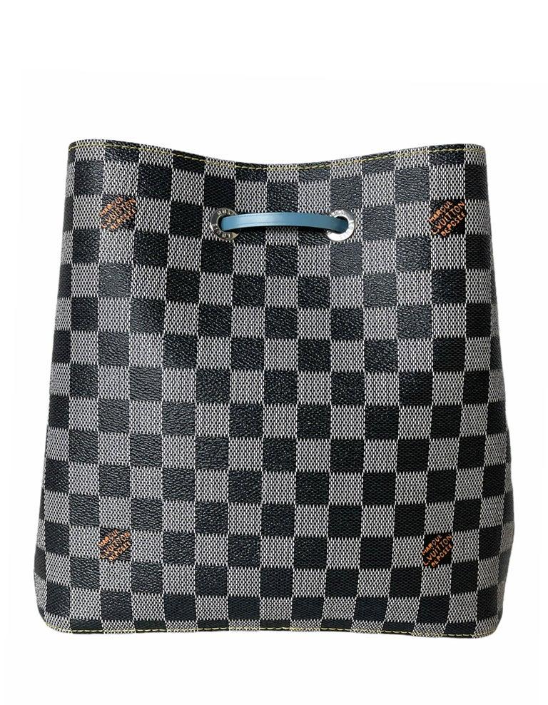 Women's Louis Vuitton RARE Limited Edition Black & White Damier Canvas NeoNoe Bag For Sale