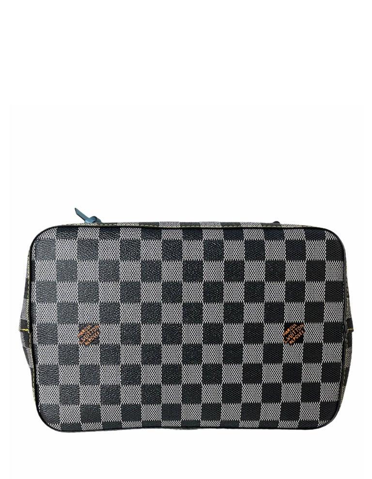 Louis Vuitton RARE Limited Edition Black & White Damier Canvas NeoNoe Bag For Sale 1