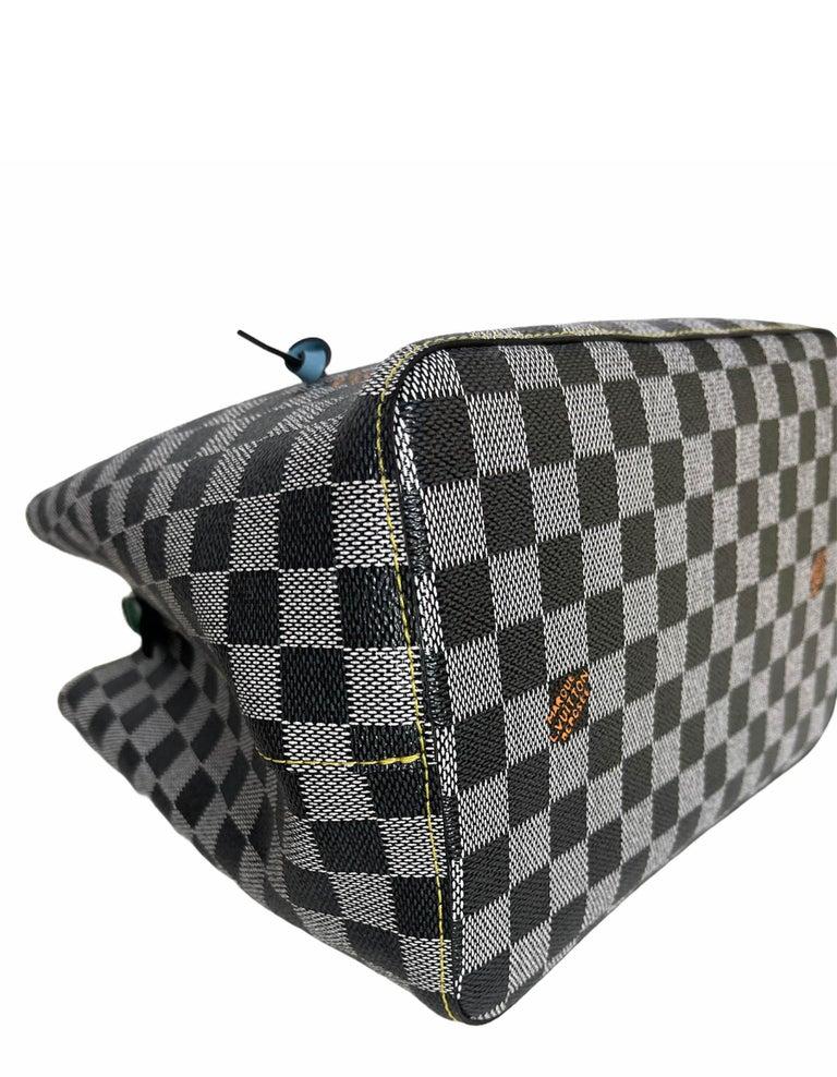 Louis Vuitton RARE Limited Edition Black & White Damier Canvas NeoNoe Bag For Sale 2
