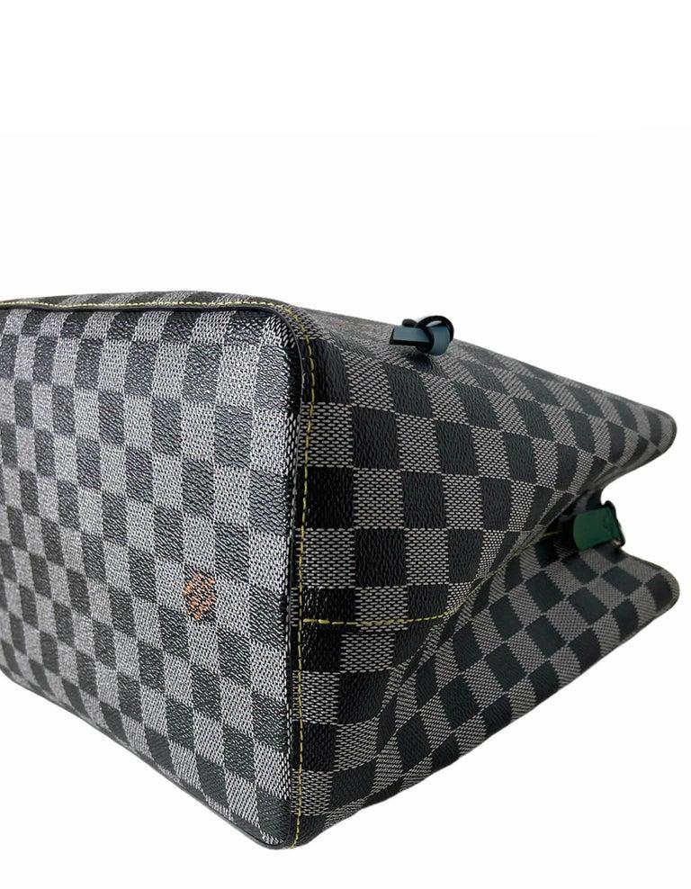 Louis Vuitton RARE Limited Edition Black & White Damier Canvas NeoNoe Bag For Sale 3
