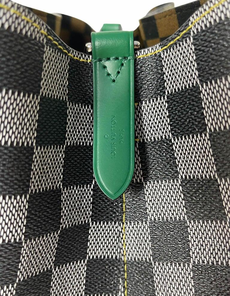 Louis Vuitton RARE Limited Edition Black & White Damier Canvas NeoNoe Bag For Sale 4
